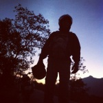 Rider in the dawn at Malshej